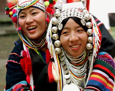 Hills Tribe Girls Chaing Mai