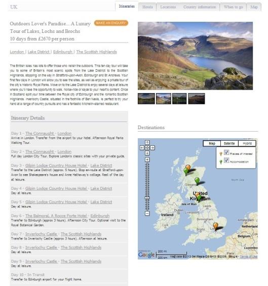 Ampersand UK itinerary