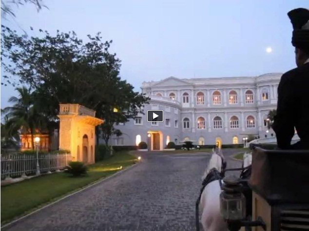 Falaknuma Palace arrival