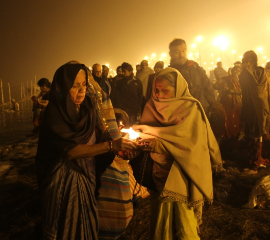 Kumbh Mela India - religious offerings