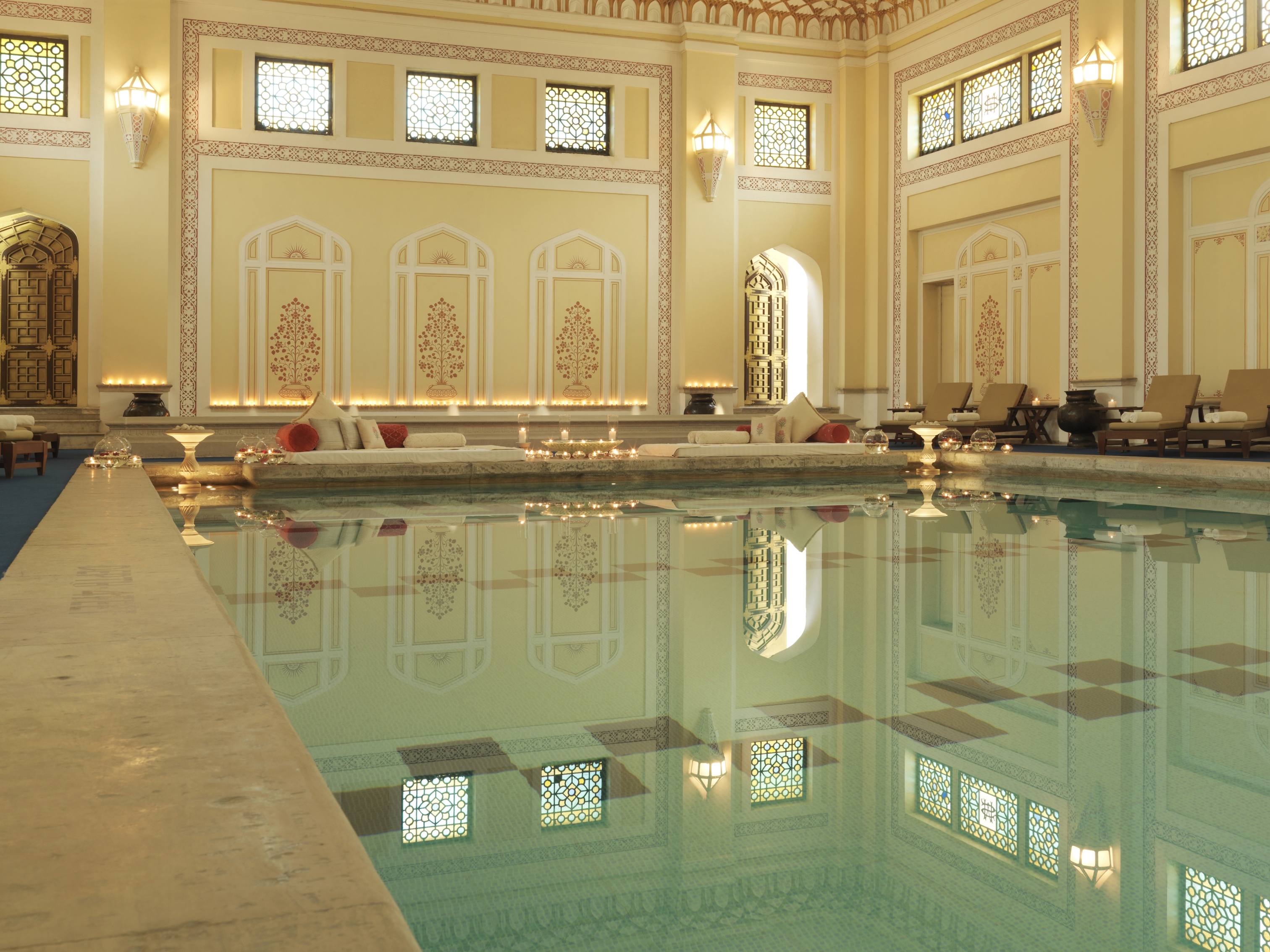 Rambagh Palace, Jaipur, India - indoor swimming pool