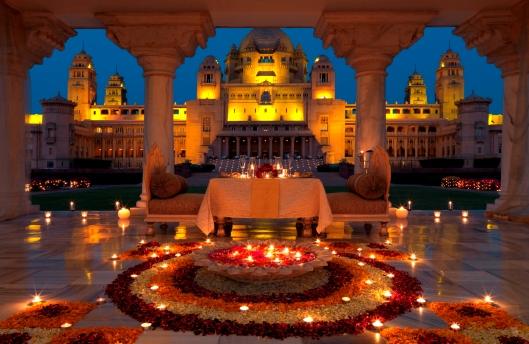 Umaid Bhawan, Jodhpur, India  -Baradari Dining